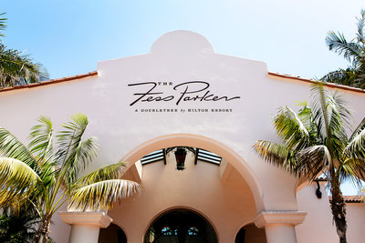 Entrance to Fess Parker DoubleTree Resort Santa Barbara