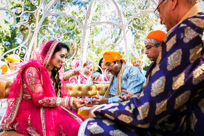 Sikh wedding rituals in Poway by San Diego photographer