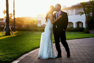 Couple sunset portrait at Fess Parker DoubleTree Resort