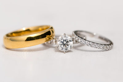 Wedding ring details by Los Angeles photographer