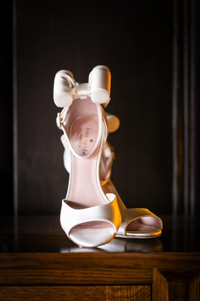 Elegant wedding shoes photo by Riverside photographer