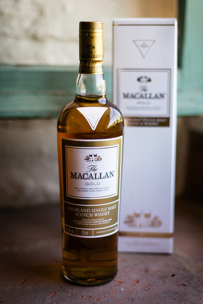 Bottle of Macallan whiskey at Santa Barbara wedding