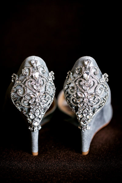 Stunning bride shoes details by LA wedding photographer