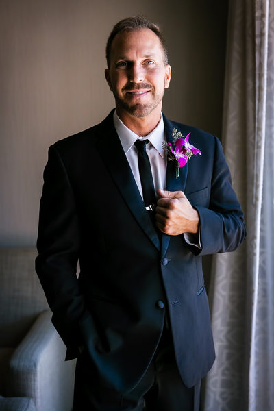 Groom portrait by Fess Parker Resort photographer