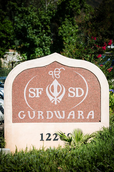 Entrance to Sikh Gurdwara Temple in Poway