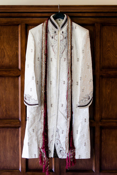 Traditional Indian groom sherwani at San Diego wedding