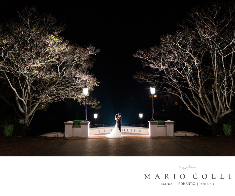 Night photos Links Hope Island Gold Coast wedding