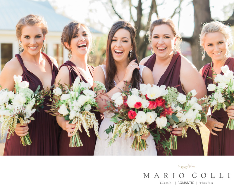 Fun Bridal Party Photos Brisbane wedding photography