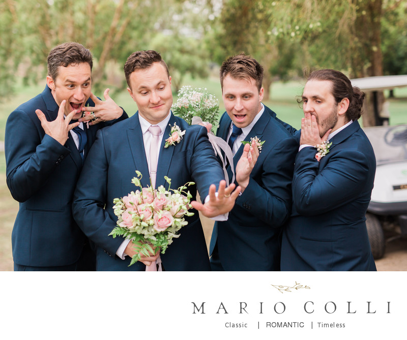 Funny groomsmen photo brisbane photographer