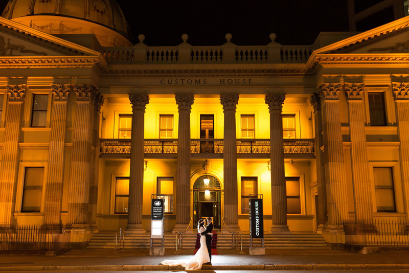 Customs House Brisbane Wedding night Photo