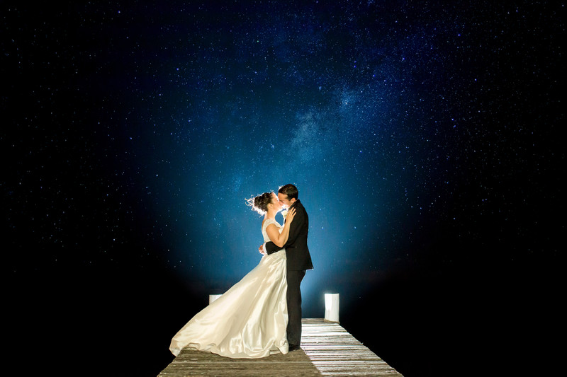 Night sky Brisbane wedding photography