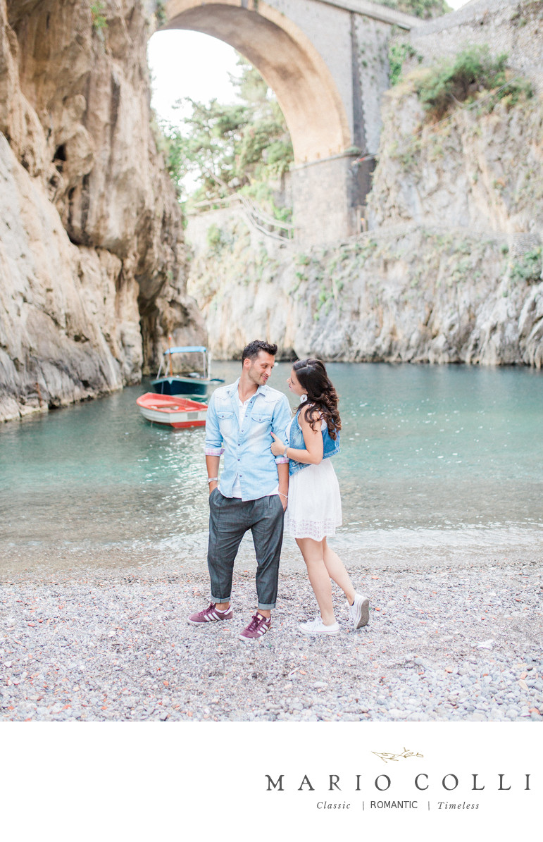 Amalfi coast destination engagement photos