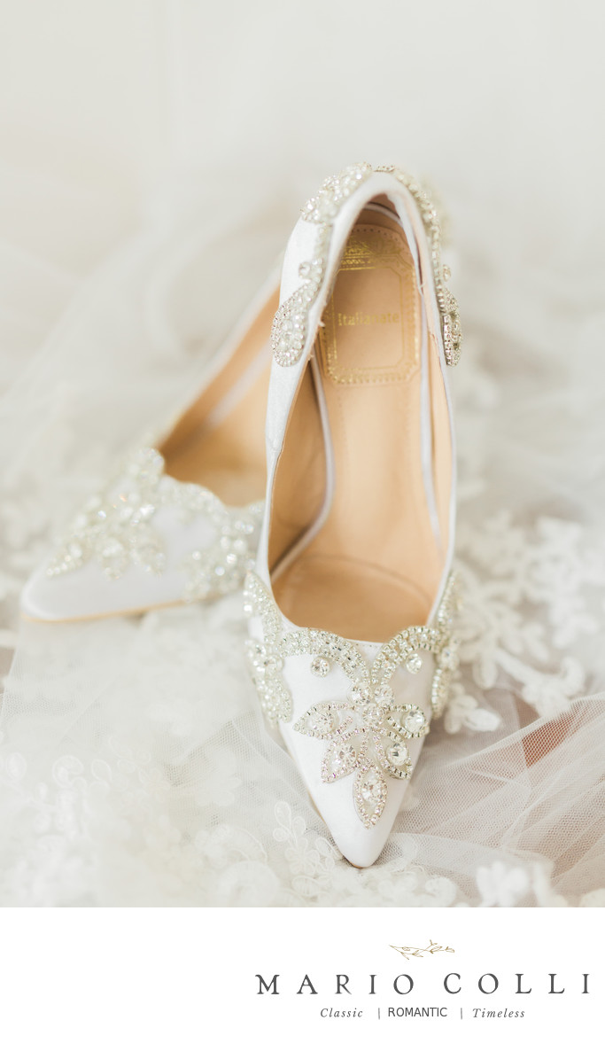 classic wedding shoes - diamonds details