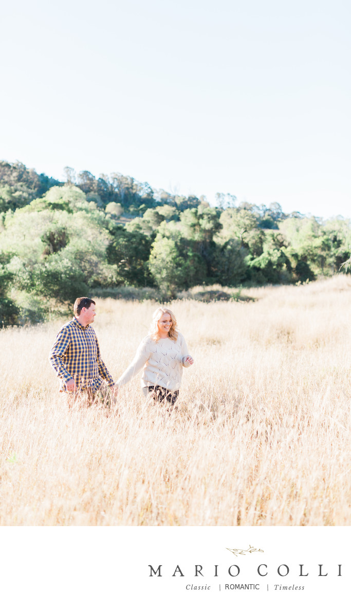 Country field Brisbane engagement photos