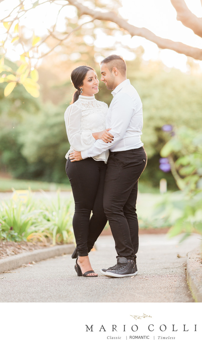 Mount Coot-tha botanic gardens engagement shoot