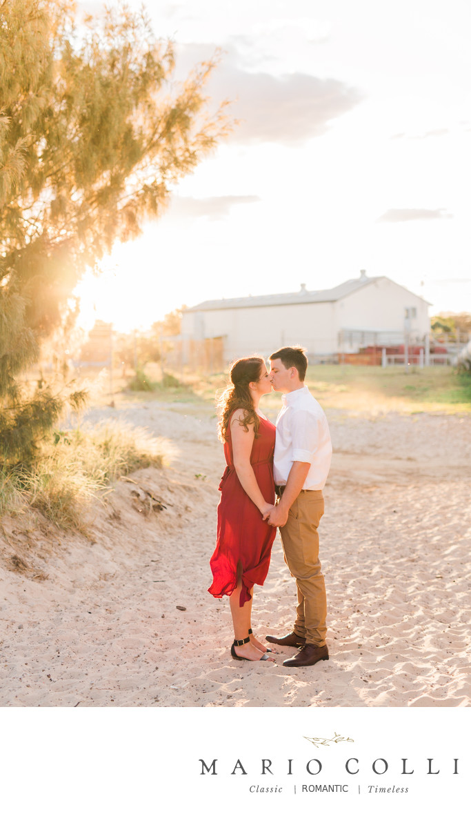 Gold coast beach engagement photos
