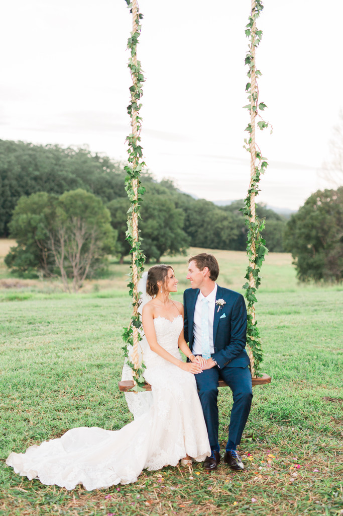 Byron Bay wedding photographer swing photo