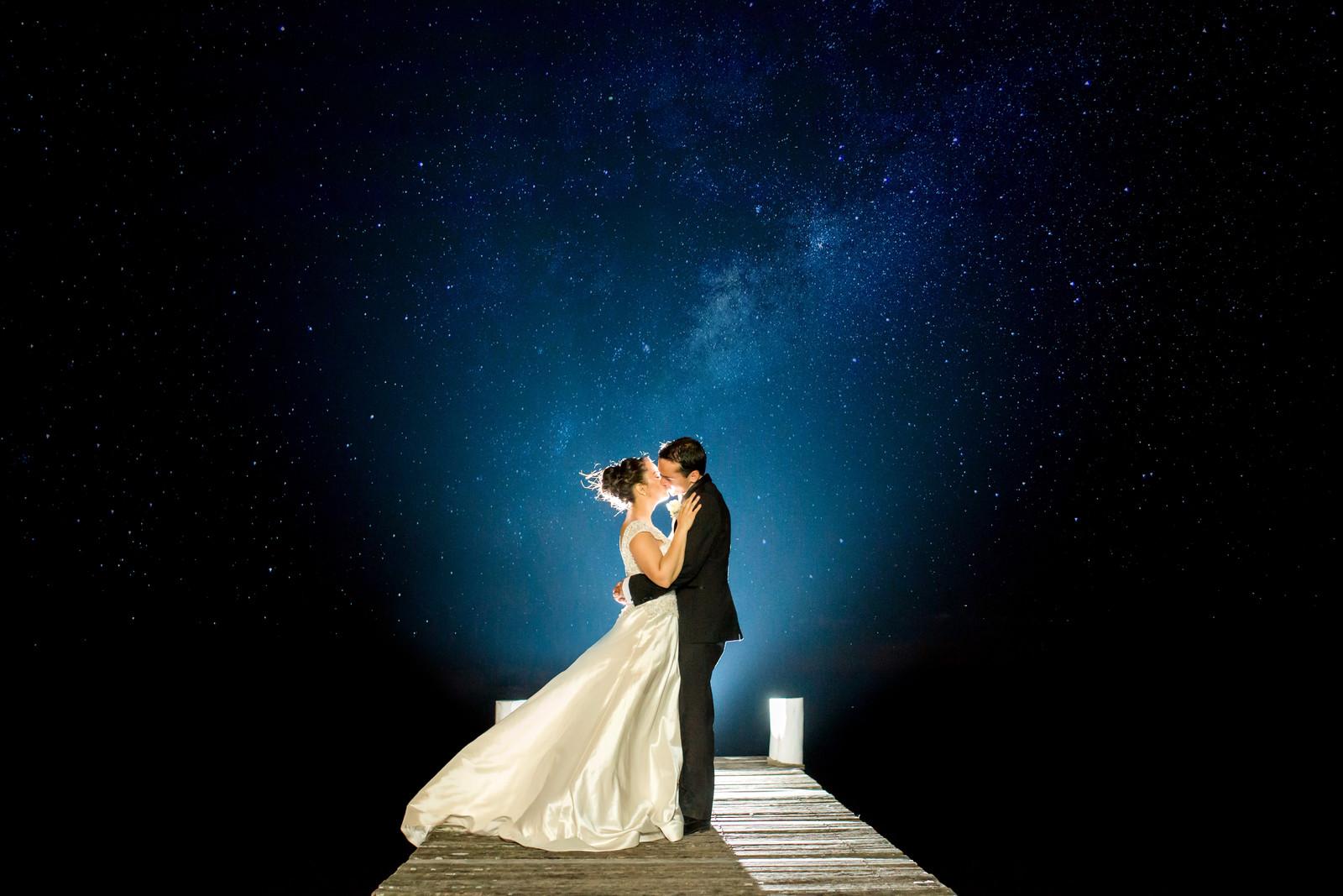 Night Sky Brisbane Wedding Photography