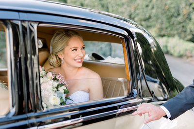 Bride Classic Wedding Cars Tiffanys Maleny