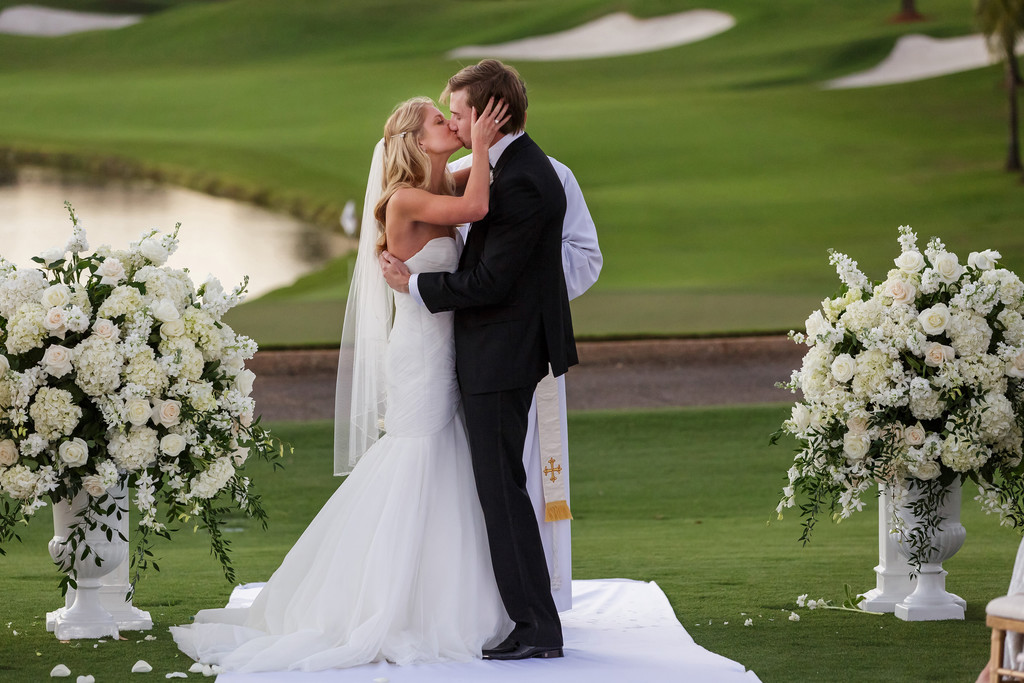 Trump International Wedding Palm Beach First Kiss