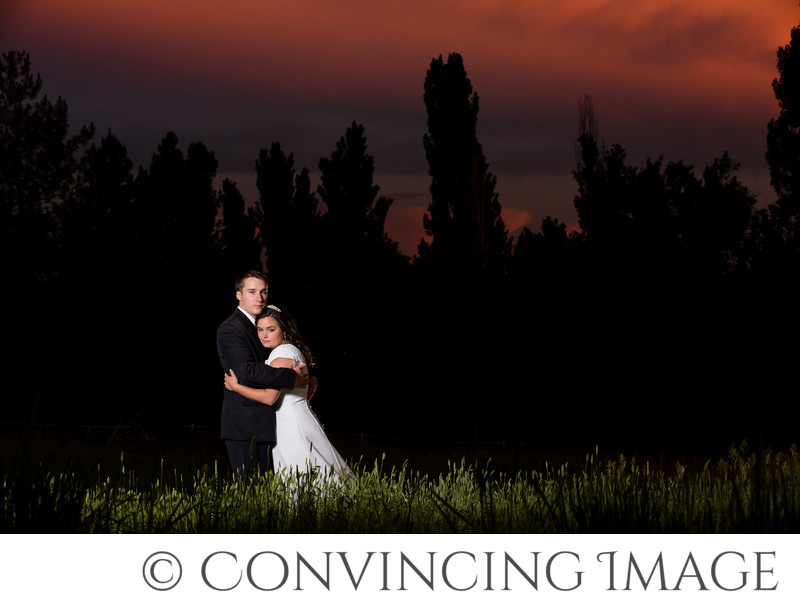 Sunset Wedding Photos in Northern Utah
