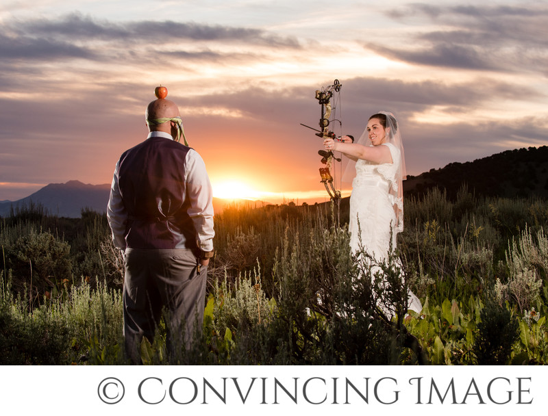Unique wedding photos in Cache Valley