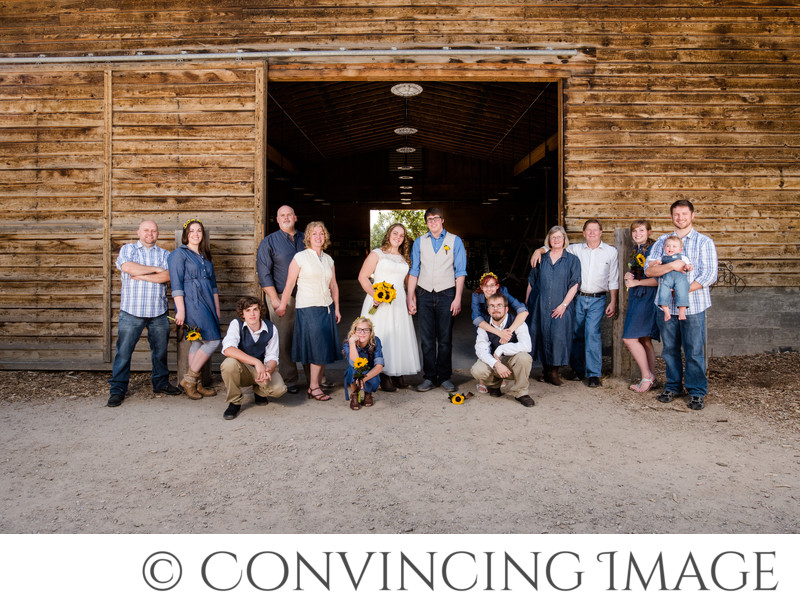 Wheeler Farm Wedding Family Group Photographer