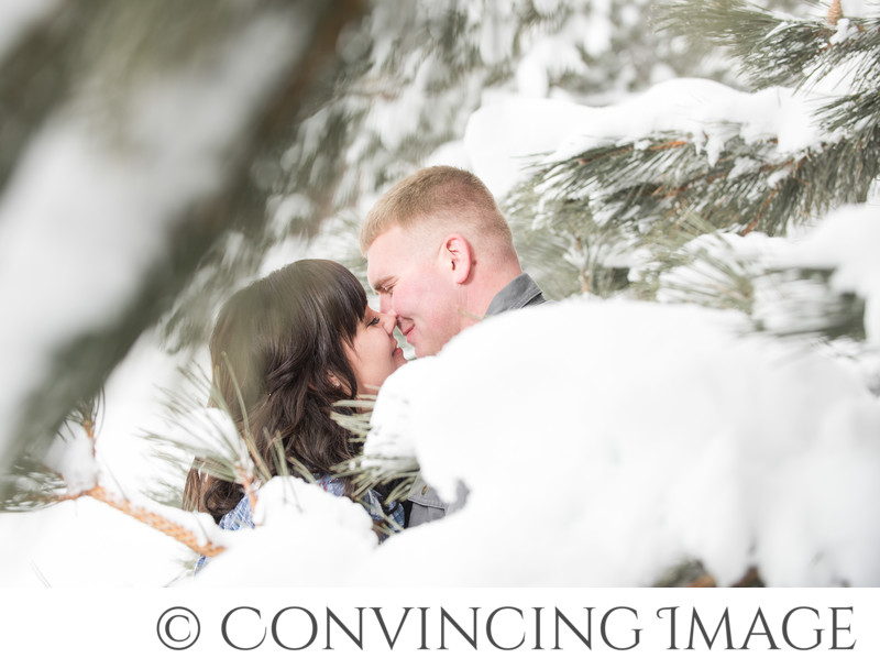 Logan Utah Winter Engagement Photographer