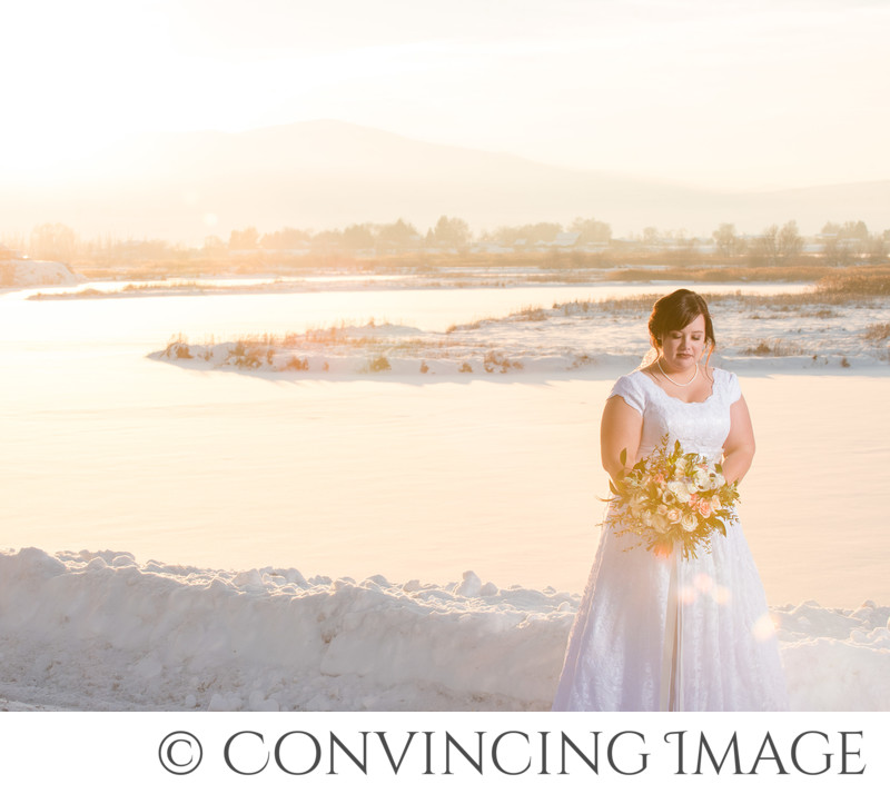 Logan Utah Photographer for Winter Bridals