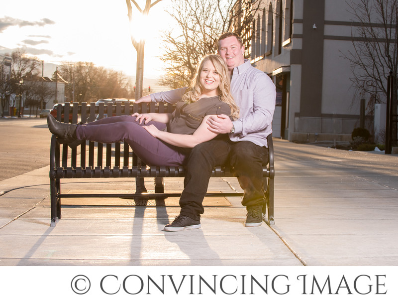 Downtown Logan Utah Engagement Photographer