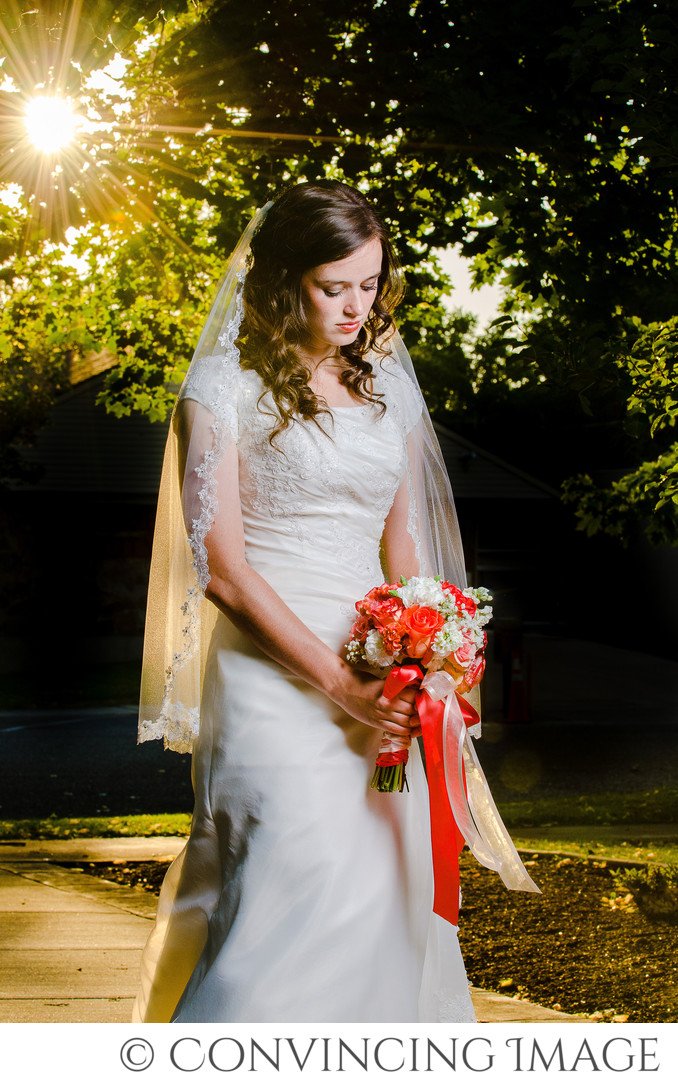 Bride in Cache Valley