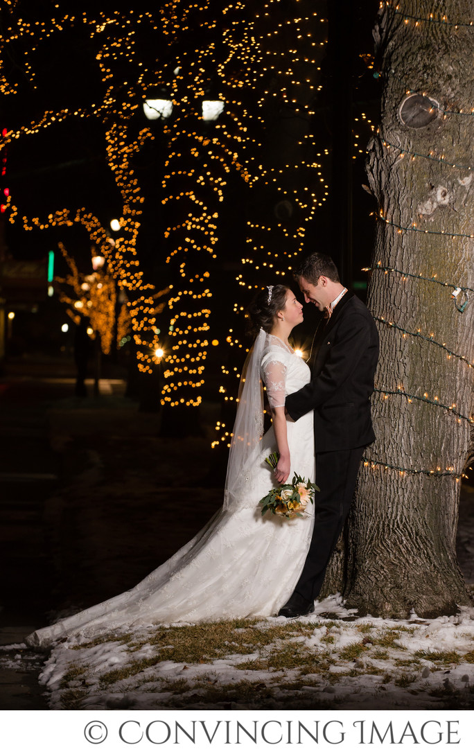 Winter Wedding Photos in Logan Utah