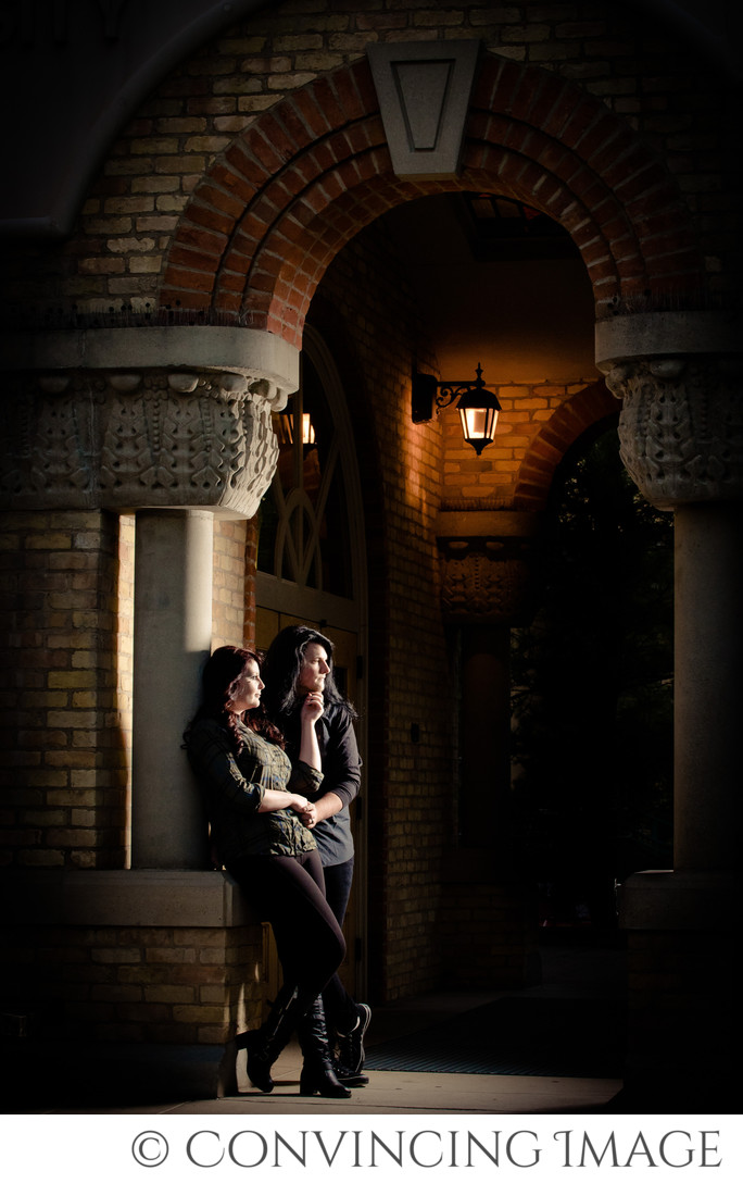 Old Main USU Engagement Photography