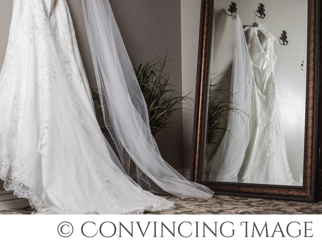 Wedding Dress Reflection Utah Photographers