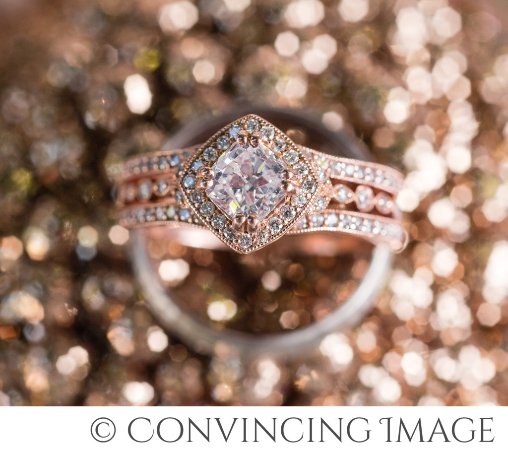 Rose Gold Wedding Engagement Ring