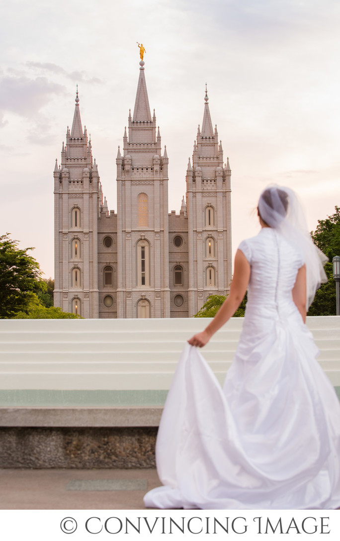 Salt Lake Temple Bridal Photograph