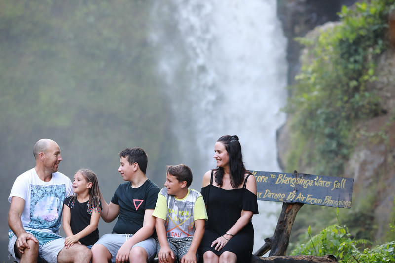 Tegenungan Waterfall Bali Family Photographer