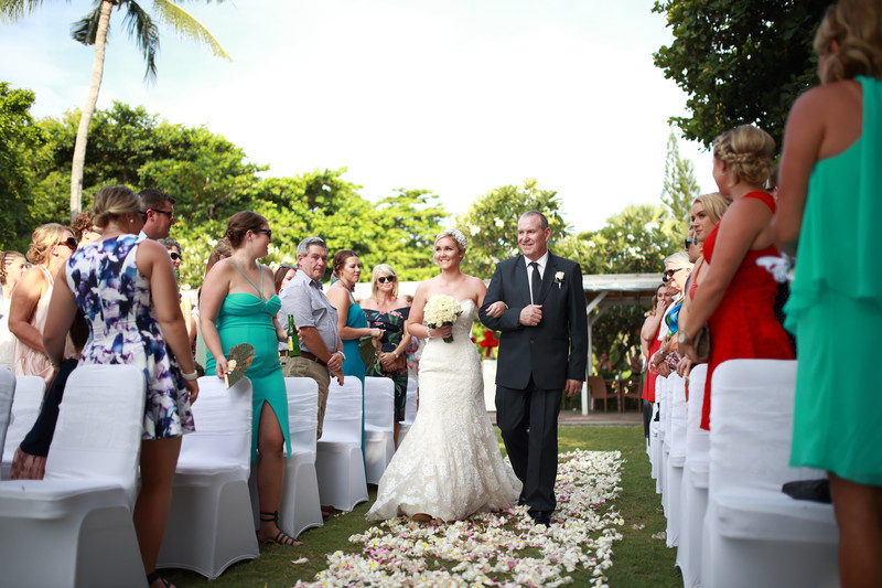 Walking Down The Aisle in Bali Wedding