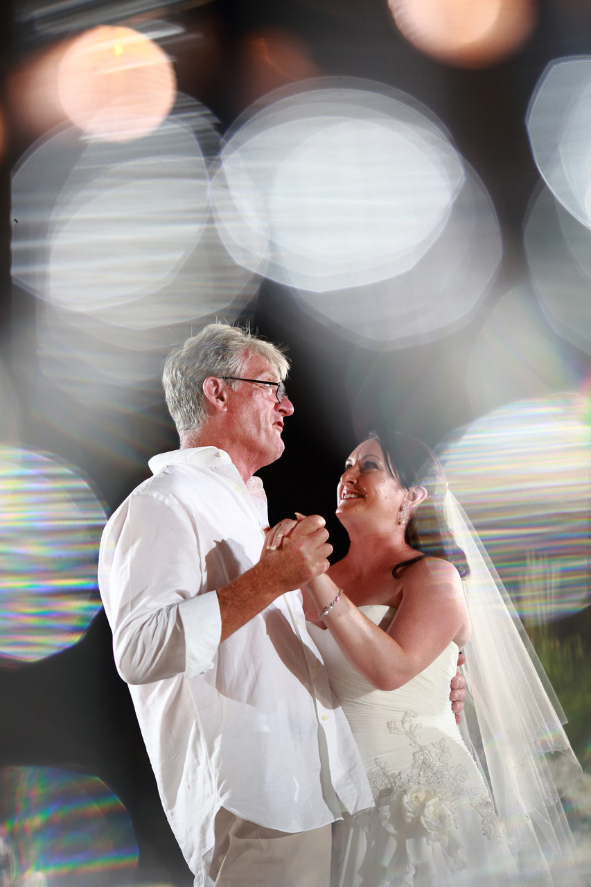 Dad and Bride Dance in Wedding bali