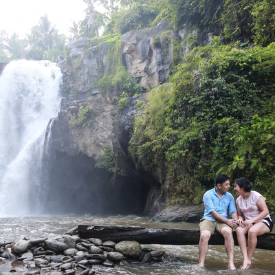 Pre Wedding Photography at Blangsinga Waterfall Bali