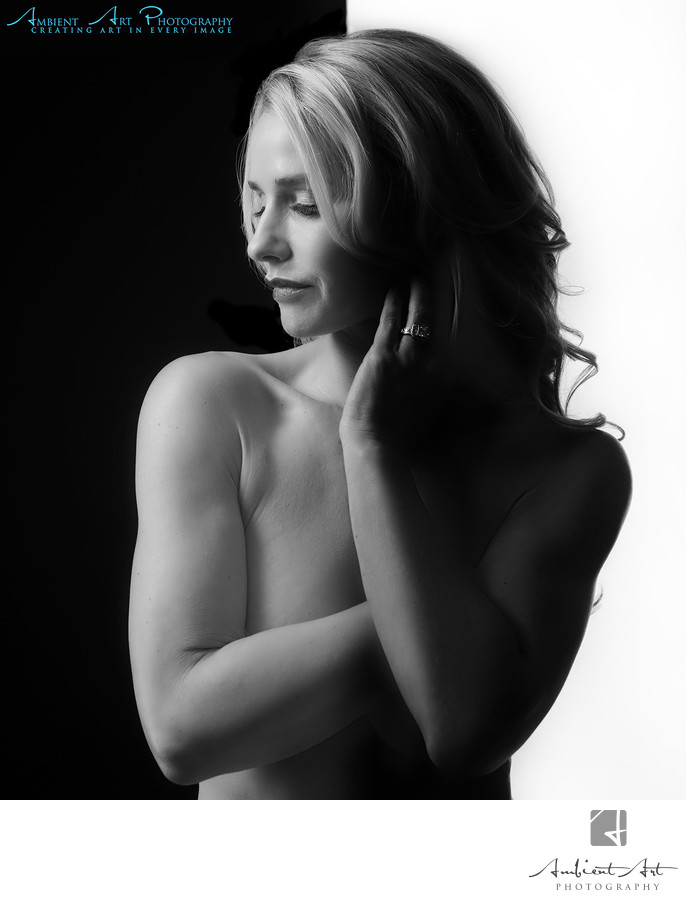 Fresno, Clovis Boudoir Photography Black and White