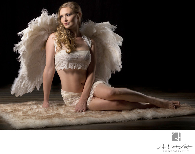 Fresno, Boudoir Angel Wings