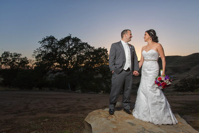 Gina and Micheal sunset wedding