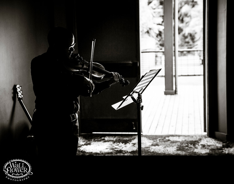 Detail of violinist playing at PDZA wedding ceremony