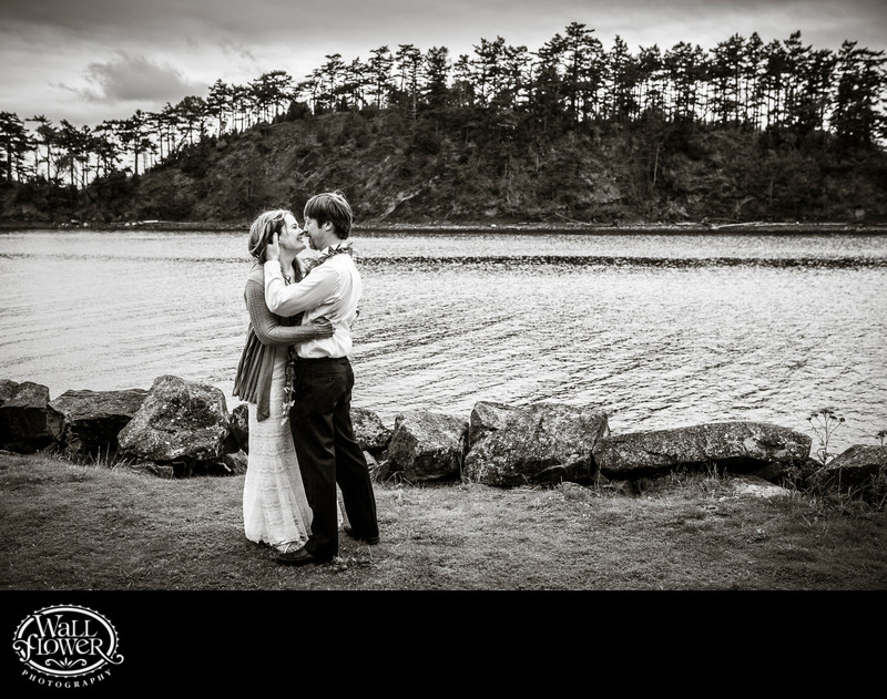 First dance during wedding on remote Sucia Island