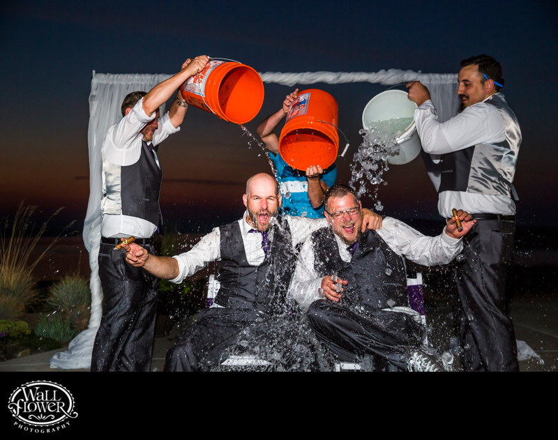 Groomsmen take on Ice Bucket Challenge after wedding