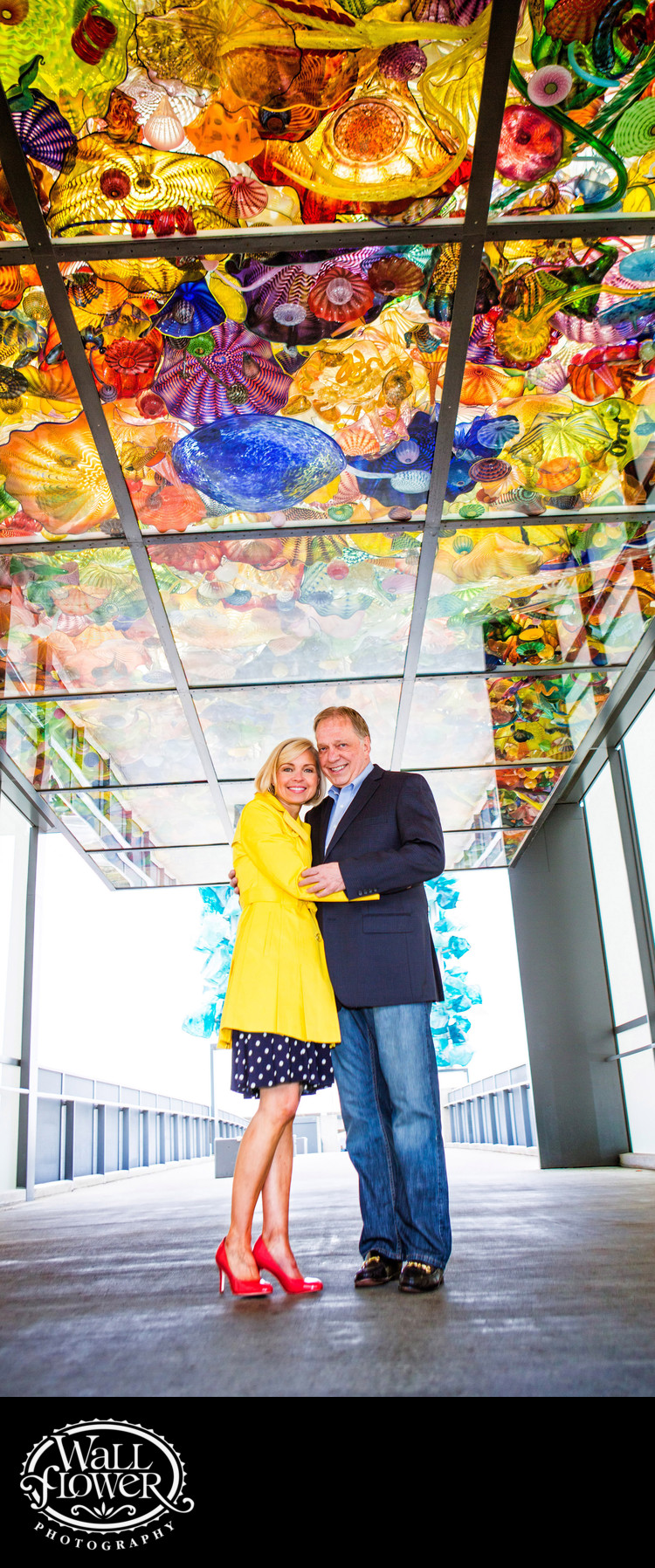 Engagement portrait on Bridge of Glass in Tacoma