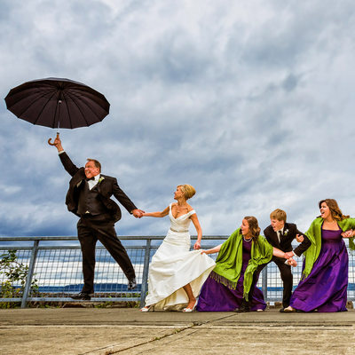 Award-winning 'Grounded In Family' wedding portrait