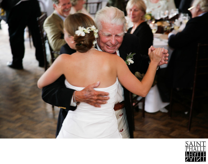 Mountain Top Inn Wedding Bride and Grandfather Dancing
