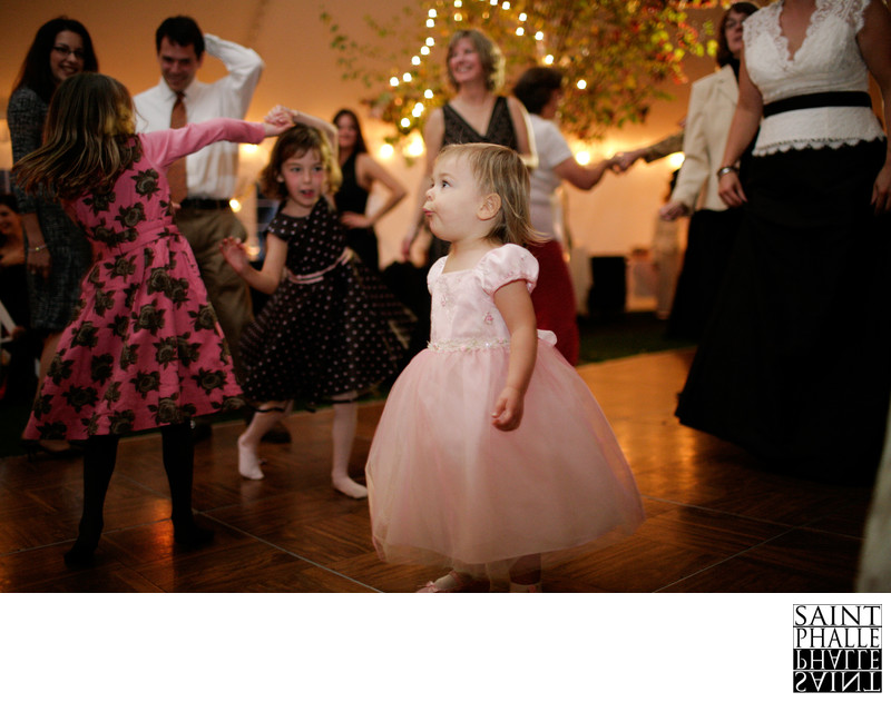 Edson Hill manor Wedding Flower Girl Dancing Reception